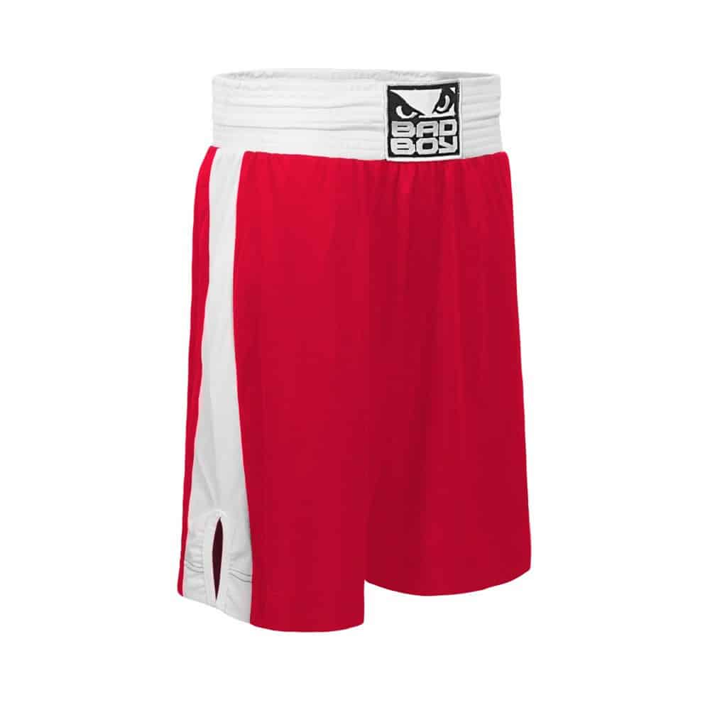 BAD BOY STINGER AMATEUR BOXING SHORTS RED/BLUE
