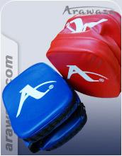 Arawaza Double Sided Precision Mitt Rectangular Blue/Red