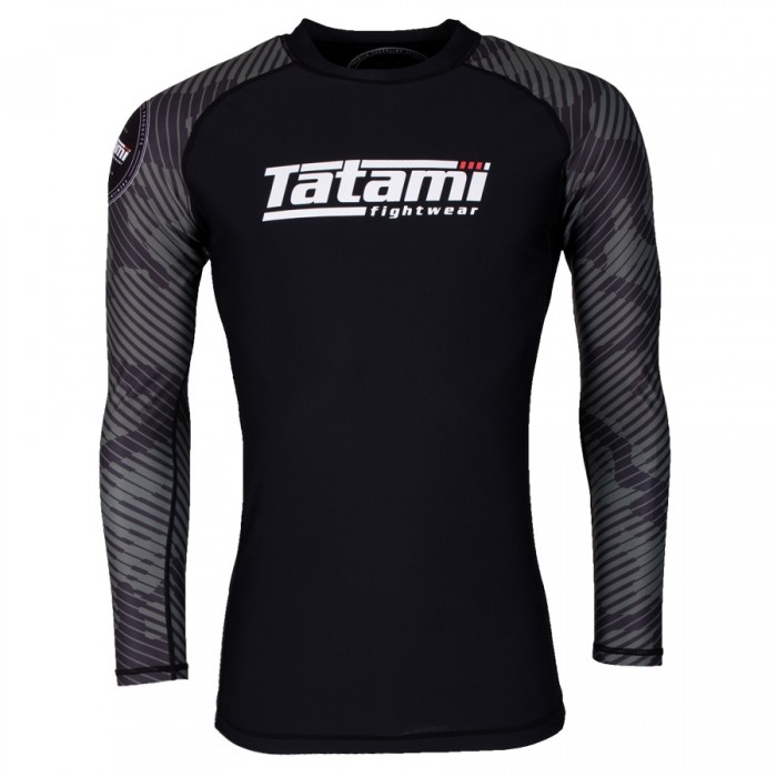 TATAMI RENEGADE GREEN CAMO LONG SLEEVE RASH GUARD