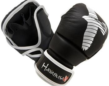 HAYABUSA PRO HYBRID MMA GLOVES BLACK