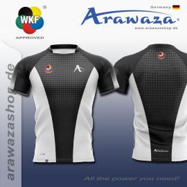 ARAWAZA DRY-TECH SPORTS TEE SHIRT BLUE/BLACK