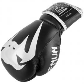 VENUM GIANT 2.0 PRO BOXING GLOVES - WITH LACES - BLACK/WHITE - BLACK/WHITE