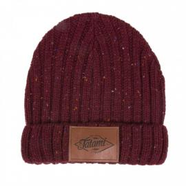 TATAMI RUSTIC BURGUNDY BEANIE BROWN
