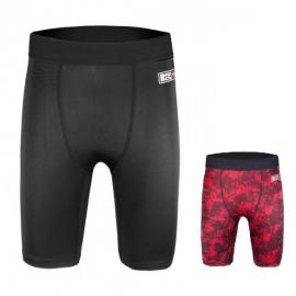 BAD BOY X-TRAIN COMPRESSION SHORTS BLACK/RED