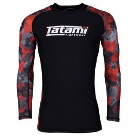 TATAMI RENEGADE RED CAMO LONG SLEEVE RASH GUARD