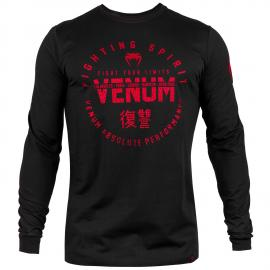 VENUM SIGNATURE T-SHIRT LONG SLEEVE BLACK/RED