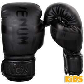 VENUM ELITE BOXING GLOVES KIDS - MATTE/BLACK