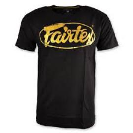 FAIRTEX TSHIRT BLACK/GOLD