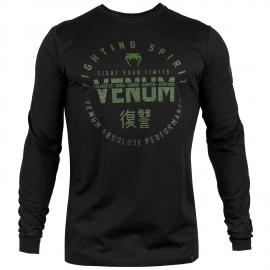 VENUM SIGNATURE T-SHIRT LONG SLEEVE KHAKI/BLACK