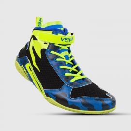VENUM GIANT LOW LOMA EDITION BOXING SHOES BLUE/YLW 38
