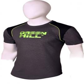 GREEN HILL GREY ROUND NECK T-SHIRT