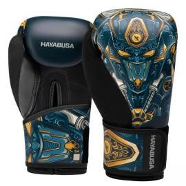 HAYABUSA S4 YOUTH GRAPHIC BOXING GLOVES-MACHINE BLUE