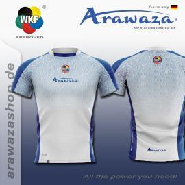ARAWAZA DRY-TECH SPORTS TEE SHIRT WHITE