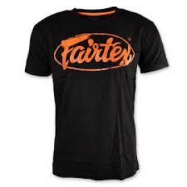 FAIRTEX TSHIRT BLACK/ORANGE