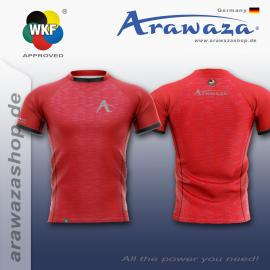 ARAWAZA DRY-TECH SPORTS TEE SHIRT RED