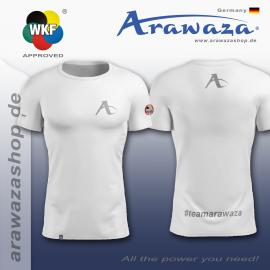 ARAWAZA DRY-TECH SPORTS TEE SHIRT RED/BLUE/BLACK/ORANGE/WHITE