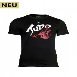 KIDS T-SHIRT, MIZUNO JUDO, BLACK